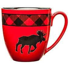 Bass Pro Shops Bear Country Buffalo Plaid Moose Giant Mug