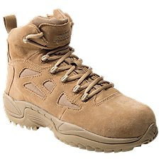 Reebok Rapid Response RB Side-Zip Composite Toe Tactical Work Boots for Men