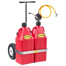 FLO-FAST Professional Model Pump, 2 Gasoline Containers and Cart System
