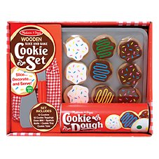 Melissa and Doug Wooden Slice and Bake Cookie Set for Kids