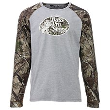 Bass Pro Shops Camo Logo Raglan T-Shirt for Men