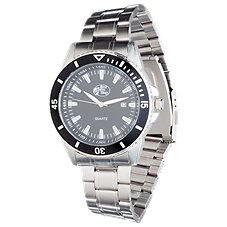 Bass Pro Shops Silver/Black Field Watch for Men