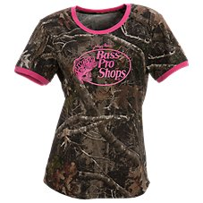 Bass Pro Shops Camo Ringer T-Shirt for Ladies