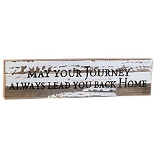 Sweet Bird & Co. May Your Journey Reclaimed Wood Sign