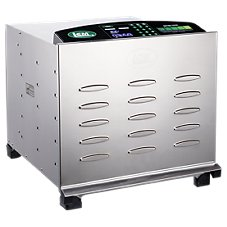 LEM Products Stainless Steel 10-Tray Food Dehydrator