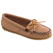 Minnetonka Moccasin Deerskin Kilty Slip-On Shoes for Ladies