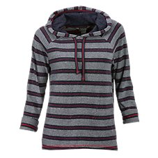 Natural Reflections Striped Hooded Pullover for Ladies