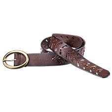 Natural Reflections Studded Cut Out Leather Belt for Ladies