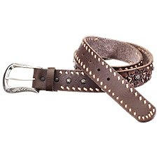 Natural Reflections Embossed Floral Leather Belt for Ladies