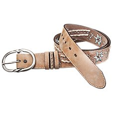 Natural Reflections Floral Leather Belt for Ladies