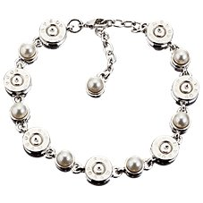 Lizzy J's Bullet Link and Pearl Bracelet