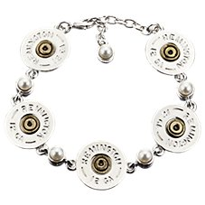 Lizzy J's Shotshell and Pearl Link Bracelet