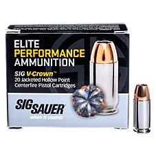 Sig Sauer Elite Performance V-Crown Handgun Ammo