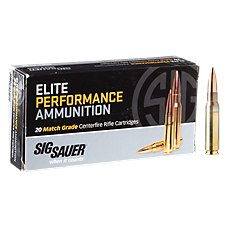 Sig Sauer Elite Performance Match Grade Centerfire Rifle Ammo