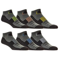 SofSole Sport Lite Low Cut Socks for Men - 6-Pair Pack