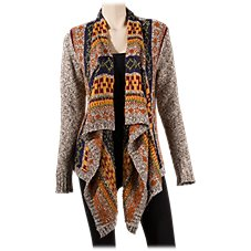 Natural Reflections Open Front Cardigan for Ladies