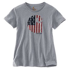 Carhartt Lubbock Graphic American Branded C T-Shirt for Ladies
