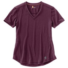 Carhartt Force Ferndale V-Neck T-Shirt for Ladies