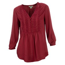 Bob Timberlake Savanna Lace Henley for Ladies