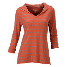 Natural Reflections Striped Hoodie for Ladies
