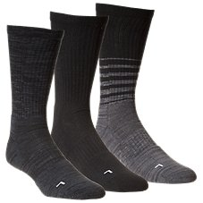 Under Armour Phenom Twisted Crew Socks for Men - 3-Pair Pack