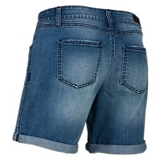 Natural Reflections Destructed Jean Shorts for Ladies
