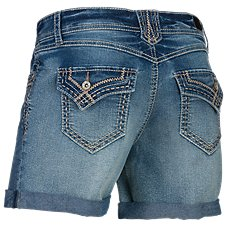 Natural Reflections Heavy Stitch Denim Shorts for Ladies