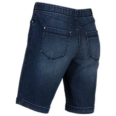 Natural Reflections Stretch Denim Bermuda Shorts for Ladies