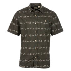 RedHead Vintage Outdoors Collection Flies Print Shirt for Men