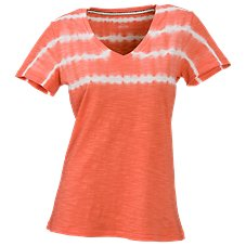 Natural Reflections Tie-Dye V-Neck T-Shirt for Ladies