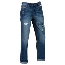 Bob Timberlake Patchwork Cuffed Jeans for Ladies