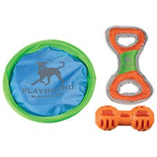 Playhound Let's Play Toss Tug Chew Dog Toy - 3-Pack