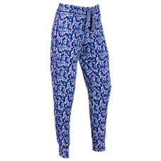 Natural Reflections Floral Print Jogger Pants for Ladies