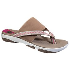 Khombu Kellys Dual Band Flip Sandals for Ladies