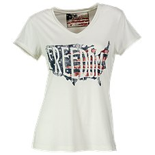 Natural Reflections Freedom V-Neck T-Shirt for Ladies