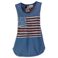Natural Reflections Crochet Flag Tank Top for Ladies