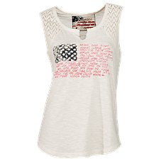 Natural Reflections United States Flag Tank Top for Ladies