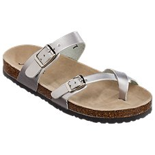Natural Reflections Maggie Buckle Toe Loop Sandals for Ladies