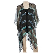 Quagga Watercolor Swimsuit Cover-Up for Ladies