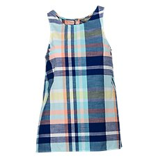 Natural Reflections Plaid Sleeveless Button-Front Shirt for Ladies