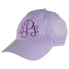 Bass Pro Shops Monogram Seersucker Cap for Ladies