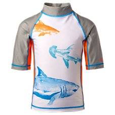 UV Skinz Shark Short-Sleeve Swim Shirt for Toddlers or Kids