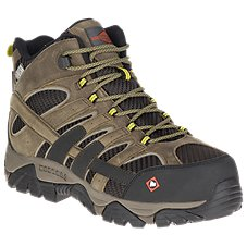 Merrell Moab 2 Vent Mid Waterproof Safety Toe Work Boots for Men