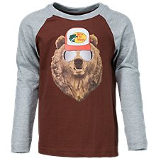 Bass Pro Shops Bear in Sunglasses Raglan Shirt for Toddlers or Kids