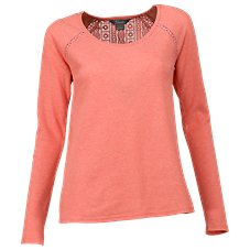 Natural Reflections Lace Trim Thermal Top for Ladies