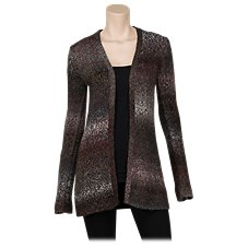 Natural Reflections Space Dye Cardigan for Ladies