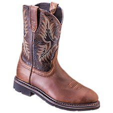 Ariat Sahara Pull-On Roper Toe Work Boots for Men
