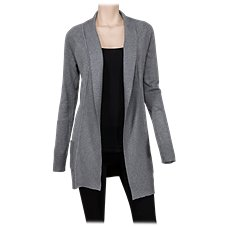 Natural Reflections Paneled Open-Front Cardigan for Ladies