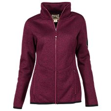 Ascend Sherpa-Lined Sweater Fleece Jacket for Ladies