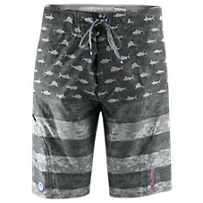 Pelagic Sharkskin Americamo Board Shorts for Men